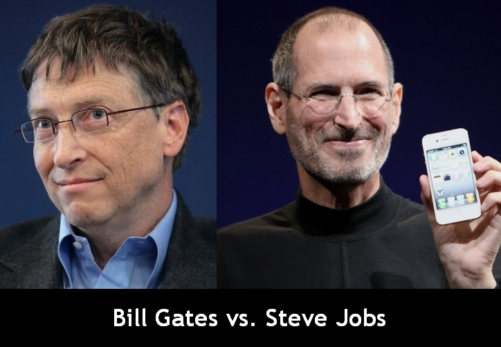 bill gates vs steve jobs